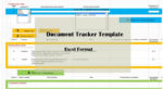 Project Document Tracker Template Excel