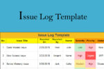 Issue Log Template Excel